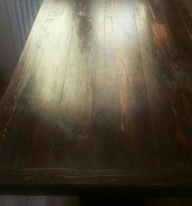 Стол и лавка для бани или беседки