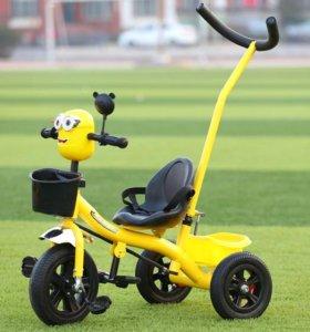 Новый детский трехколесный велосипед. Доставка