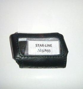 Кожаный чехол для брелка starline a63/a93