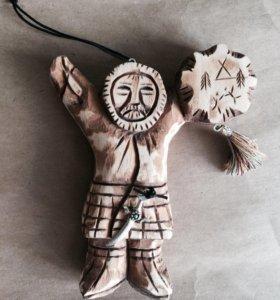 Скульптура из кедра Шаман, 13 см. Алтай