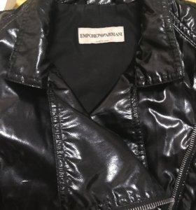 Куртка лаковая armani