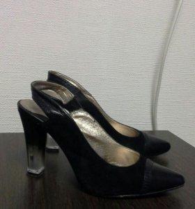 туфли замша+кожа р.37