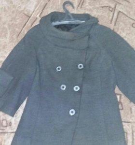 Драповое пальто женское