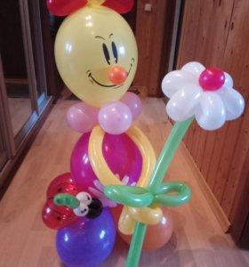 Детский праздник, клоун из шаров