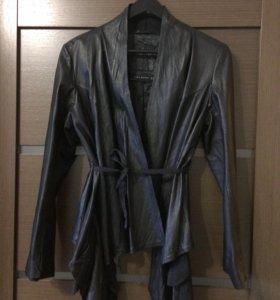 Натуральная кожаная куртка zara