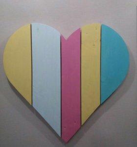 Картина в форме сердца!
