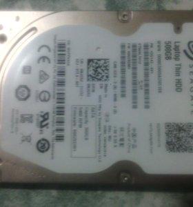 Жёсткий диск, для ноутбука 500 gb