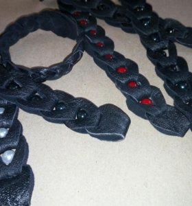 Кожаные браслеты и чехлы на зажигалки