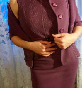 Платье + пиджак 44