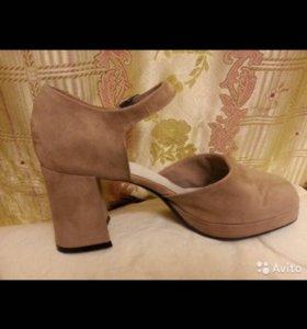 Открытые туфли замша StudyS бежевые 26 см