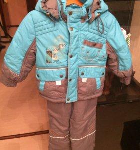 осеннии костюмчик(куртка+комбинезон)