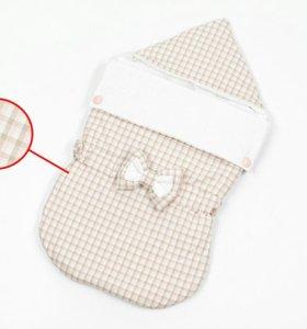 Конверт на выписку для новорожденных для девочки