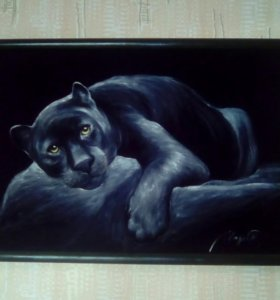 Картина ( чёрная пума )