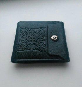Новый мужской кошелек, портмоне, натуральная кожа