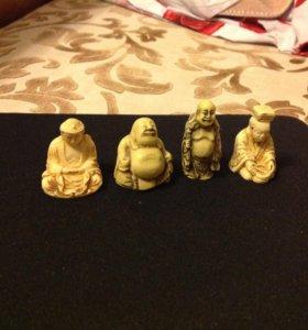 Фигурки из слоновой кости ручная работа