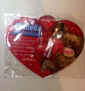 Подарочная ложка в сердце