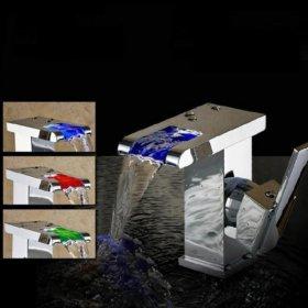 Смеситель кран 3 цвета водопад ванна кухняb1