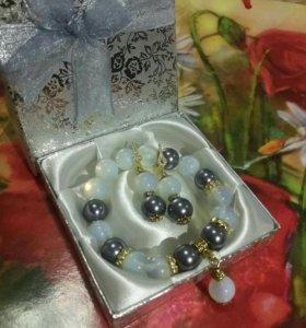 Комплект браслет и серьги