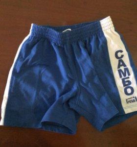 Синие шорты самбо