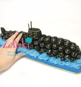 Подводная лодка из конфет подарок