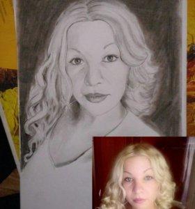 Портреты углем и карандашом