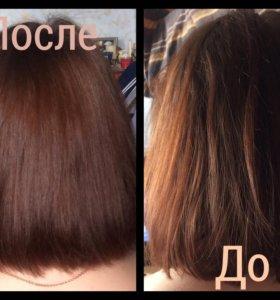 Термокератиновое лечение волос