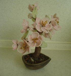Бисерное дерево подарок интерьер