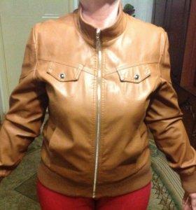 Куртка кожзам жен деми