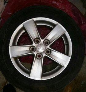 Оригинальные диски на Mitsubishi Lancer X