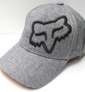 Кепка бейсболка Fox (серый) flexible