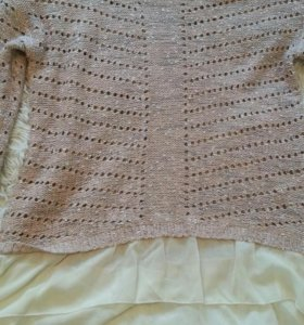 Кофточка кофта свитер с шифоном