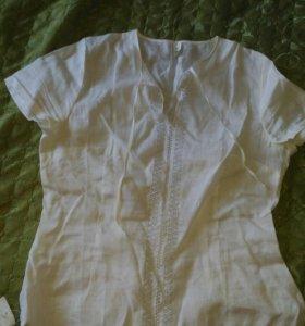 Новая льняная блузка