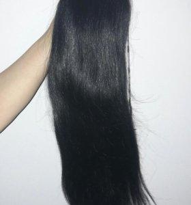 Хвост из натуральных волос