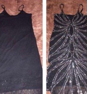 Платье в бисере и пайетках