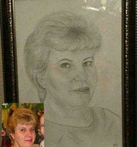 Портреты с фото на заказ