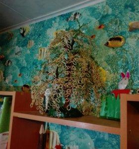 Бисерное дерево ручной работы