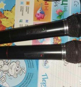 Караоке. Ресивер и два микрофона