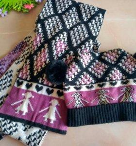 Шапка и шарф.комплект