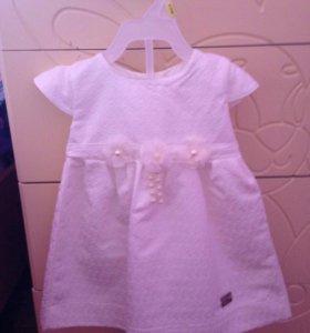 Платье с шубкой+повязка на голову 9-12 месяцев