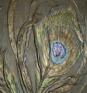 Подарок. Рельефное панно. 3d картина. Декор