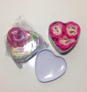 Мыло в шкатулке сердце, розы