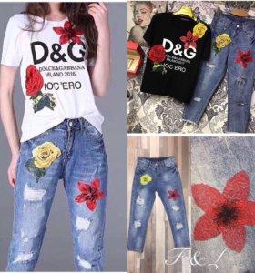 Футболка D&G и джинсы D&G