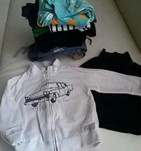 Большой пакет бренд. одежды на 1-2 года мальчика!