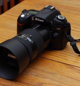 Nikon d90 зеркальный , новый + чехол