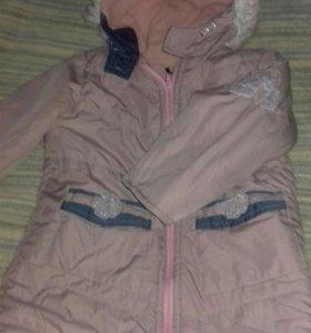 Пальто демисезонное размер 116