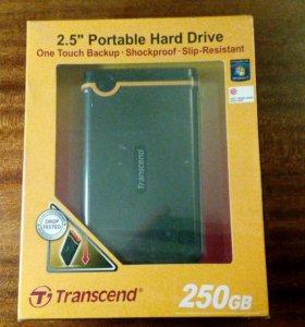 Внешний жесткий диск Transcend 250 Gb.