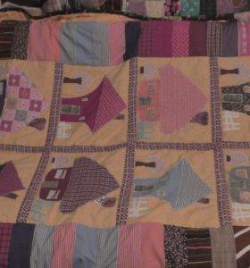 """Пэчворк """" домики""""одеяло"""