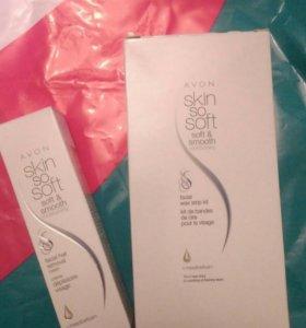 Набор и крем для удаления волос на лице