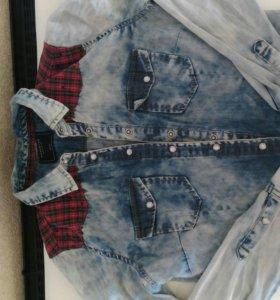 Бершка рубашка джинсовая