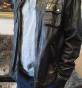 Коженная куртка Jack Jonce (овечья кожа)